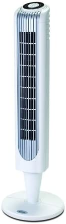 Premium Tower Fan with Remote In Energy Efficient Oscillating Cooling 36 Inch White Sleek Design