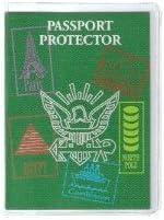 Transparent Plastic Passport Cover - 6 Pack