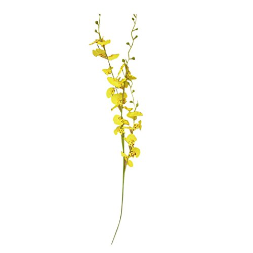 Leegor 1 Branch Mini Real Touch Artificial Oncidium Orchid Fake Flowers Simulation Floral Home Wedding Decor Hotel Party Event Decorations Photography Show Props