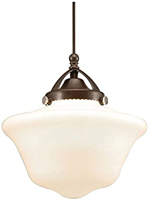 WAC Lighting G492-WT Glass Shade Milford, White