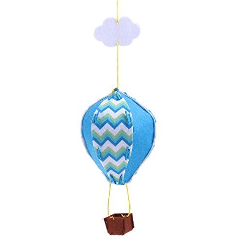 Toyvian 3D Hot air Balloon kit Handmade air Balloon Craft Baby Kids Balloon Decoration for Room Shower Party Wedding Birthday (Blue) -