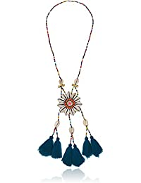 Shell Neck with Multi-Bead Pendant Necklace