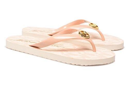 (Michael Kors PVC Jet Set Logo Women's Flip Flops, Ballet, 7 M US)