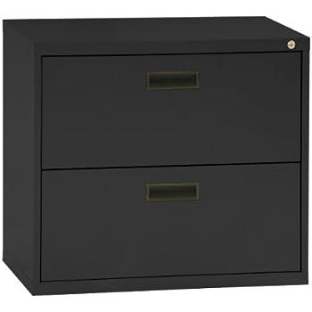 Amazoncom Sandusky Series Black Steel Lateral File Cabinet - File cabinet width
