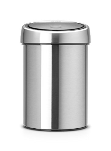 with Plastic Bucket, 3 Litre - Matt Steel (Brabantia Matt)
