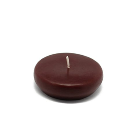 Zest Candle CFZ-041_12 288-Piece Floating Candle, 2.25'', Brown