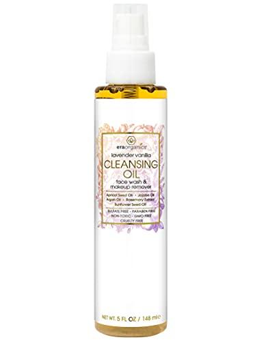 Era Organics Facial Cleansing Oil & Makeup Remover- Premium Plant Based Moisturizing Face Wash For Dry, Sensitive Skin…