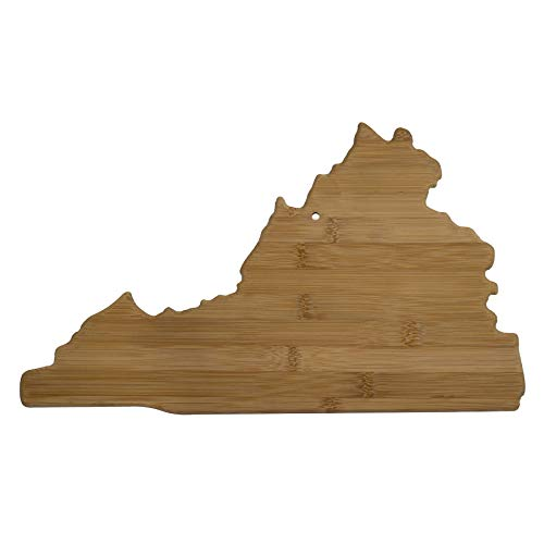 Totally Bamboo 20-7985VA Virginia State Shaped Bamboo Serving & Cutting Board, -