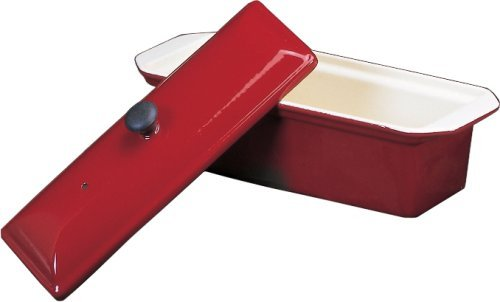 Chasseur Enameled Cast-Iron Pate Terrine Mold, Red by Paderno World - Terrine Mold Red