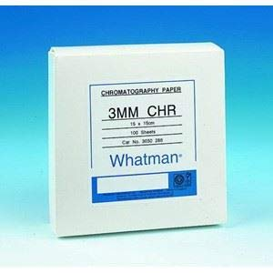 Grade 3 Mm Chr - GE Healthcare LS Chromatography Paper, 20 L x 20cm W, Cellulose, 3MM Chr Grade, Sheet Format, 0.34mm Thickness, 130mm/30 min. Flow Rate, A Medium Thickness Paper (0.34mm) Used Extensively for General