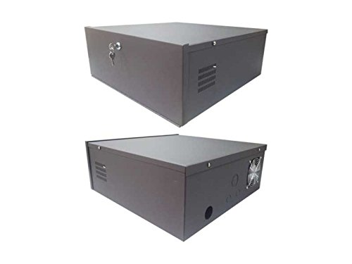 クリアビューケースDVRロックボックスSM DVRロックボックスFits 1u DVR 18 x 18 x 5 withファン   B0749QGYPJ