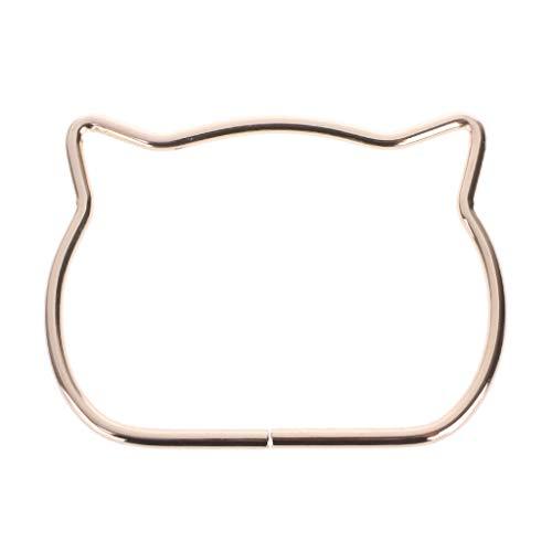 SimpleLif Metal Bag Handle,Cute Cat Ear Handle DIY Shoulder Bags Making Handbag Handle Replacement Accessories by SimpleLif (Image #2)