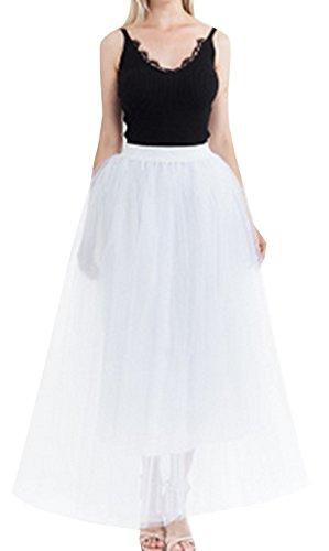zoulouyou - Jupe - Jupon - Uni - Femme Blanc Wei? Taille Unique Wei?