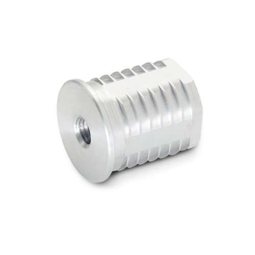 JW Winco 992D32M8 Series GN 992 Aluminum Round Type Threaded Tube Insert, Metric Size, M8 x 1.25 Thread Size, 32mm Tube Outside Diameter