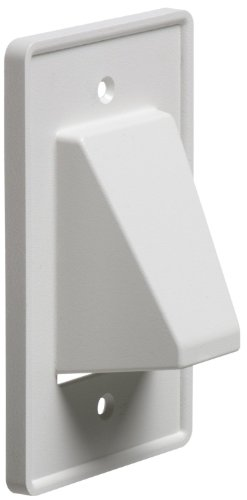 Arlington CE1-25 Recessed Low Voltage Cable Plate, 1-Gang, White, 25-Pack
