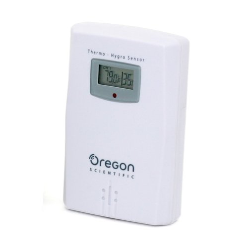 - Oregon Scientific THGR122NX Water Resistant Remote Sensor W/ LCD Display. Measures and Displays Humidity & Temperature from -22F to 140F