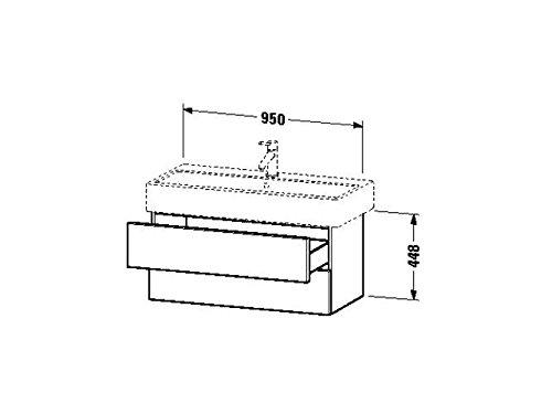 Duravit Waschtischunterschrank wandh. Delos 445x950x448mm 2 SchKa, für 045410, eiche gebürstet, DL63