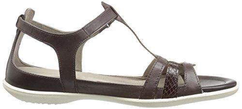 Ecco Damen Flash Offene Sandalen mit Keilabsatz, Beige (58498gravel/White), 35 EU