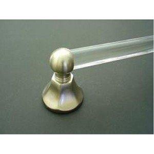 IDHBA B39104A-10B Bryn Mawr Towel Bar with 1-Inch Diameter Acrylic Rod, 24, Oil-Rubbed Bronze ()