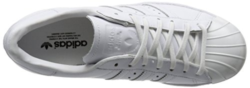 Adidas Superstar Metal Femme 80's Mode Toe Baskets Blanc vT4wP1qvx