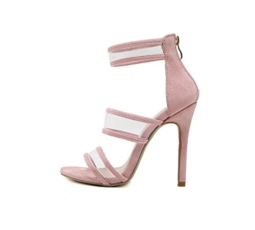 yksivärinen Zhhzz Tyylikäs Kengät Kala mukavat Naisten Seksikäs Korkokenkiä Kauniita Vaaleanpunainen Sandalit Super Sandaalit Kalvo Läpinäkyvä Suussa BUWxx86qpn
