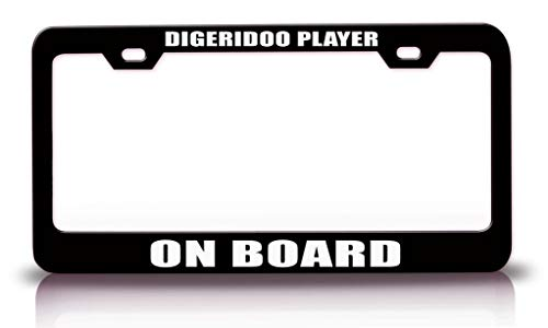 High Quality, Heavy Duty Auto/SUV/Truck Accessories, We bring you the best quality customized license plate frame available in the market. Measures 12.5 X 6.5 inches. Pre drilled holes that has a distance in between for 7 inches. Fits over all US and...