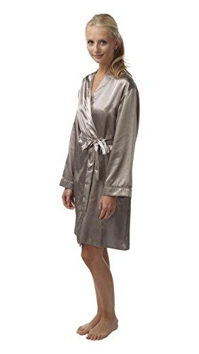 BHS Womens Sleepwear Satin Long Sleeve Bathrobe/Dressing Gown, Mocha US: - Sale Womens Bhs Clothing