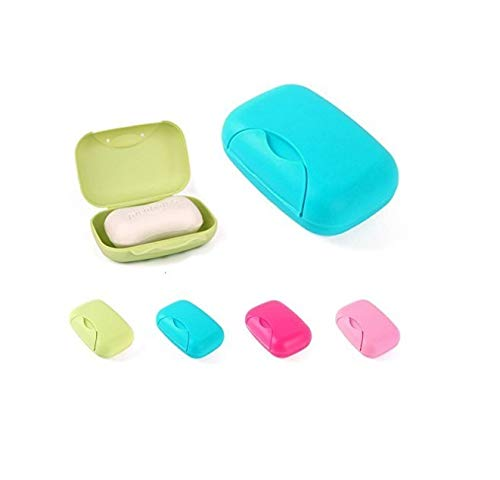 BlueBeach 2 PCS Travel Soap Holder Box Colorful Case Cover for Outdoor/Camping/Hiking (Large Size)