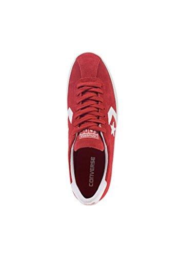 Converse - Zapatillas de Deporte de Piel Vuelta Unisex adulto Rojo