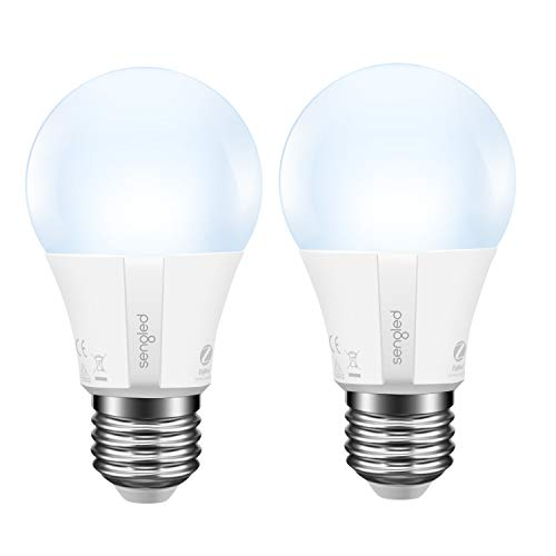Sengled Smart Light Bulb A19 LED Daylight, Hub Required, Smart Bulb A19 5000K 60W Equivalent, Smart Light Bulb Compatible with Alexa, Google Assistant, SmartThings & IFTTT, 2 Pack
