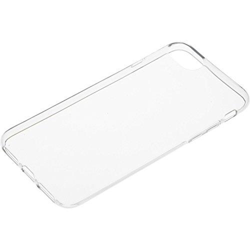 Caseit Flexible TPU Hülle und Kristallklare Displayschutzfolie im Set für Apple iPhone 7 - Transparent (mit Pünktchen)