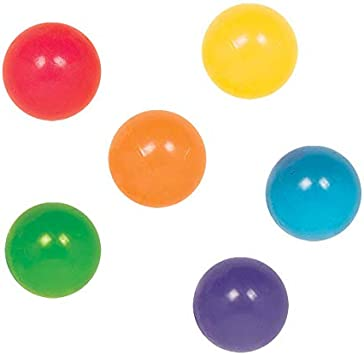 Frosty Look Extra High Bounce Neon Rubber Swirled Bouncing Balls for Collection Birthday Party Toy Assorted Colors Crazy Bouncy Balls for Kids Boys Prize zvr Stress Reliever
