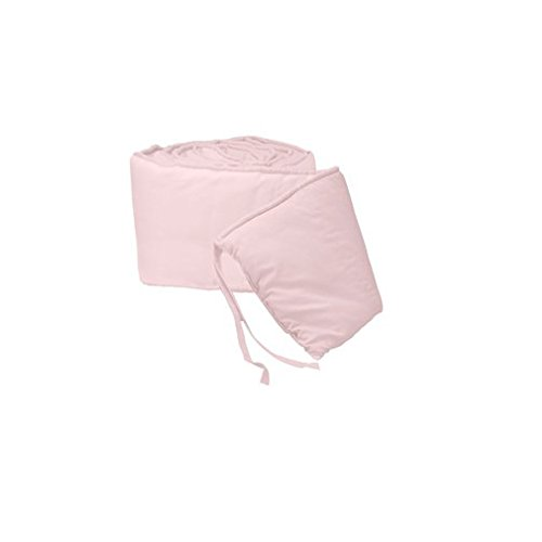 Denim Crib Bedding (BabyDoll Tailored Baby Crib Bumpers, Pink)