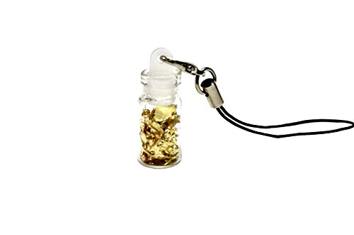 24k-gold-leaf-in-mini-bottle-accessory-for-keychain-cell-phone-charm-etc