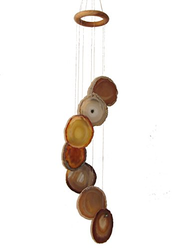 - Feng Shui Import 7 Citrine Agate Slabs Wind Chime