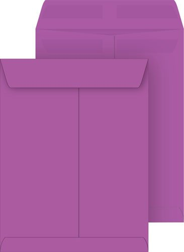 Purple 10x13 Catalog Envelopes, Press & Seal, 25-Pack by Coordinated Systems & Supplies (Image #1)