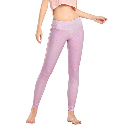 Houmous Women's Workout Ankle Leggings with Side Pockets Running Yoga Pants Rose