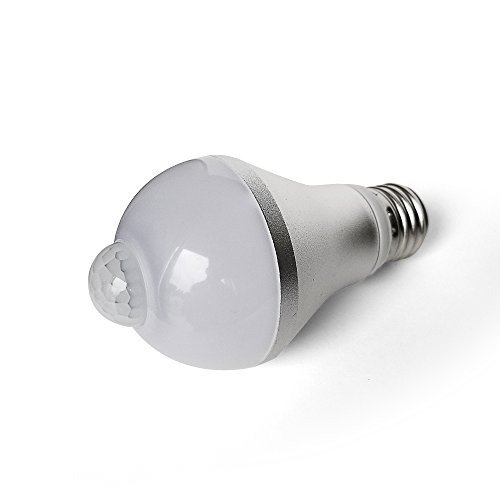 Motion Sensor LED Light Bulb with PIR Activated Auto On/Off, Garage, Patio, Hallway, 9W 600 Lumens Cold/Soft Light Bulb Single (Bulb Single Pack)