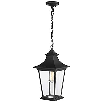 Emliviar Large Outdoor Wall Sconces, Post Light and Hanging Light