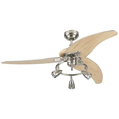 "Westinghouse 7850500 Elite 48"" 3 Blade Hanging Indoor Ceiling Fan with Reversibl,"