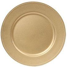 charger plates gold color beaded rims 13 in home dcor thanksgiving