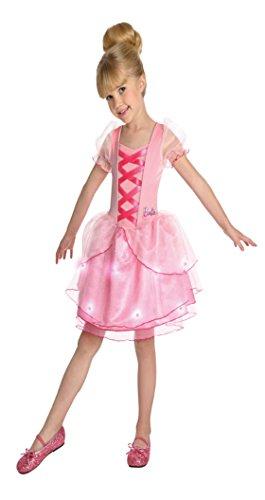 [Girls Barbie Ballerina Kids Child Fancy Dress Party Halloween Costume, S (4-6)] (Barbie Halloween Costumes For Kids)