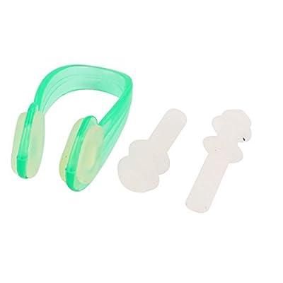 Deal Mux silicone bouchons d'oreille collier-Tondeuse nez clip de natation de protection Kit d'outils Vert clair