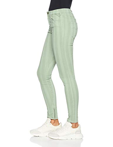Skinny Para Replay 70 Verde Mujer Vaqueros pale Ankle Green Stella Zip wxqXpqF6I