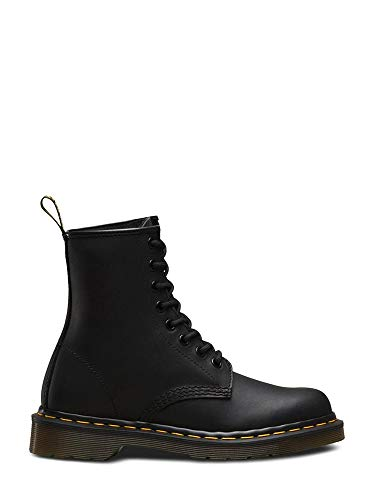 Dr. Martens 1460 8 Eye Boot, Black Greasy, 6 UK/Men's 7, Women's 8 US