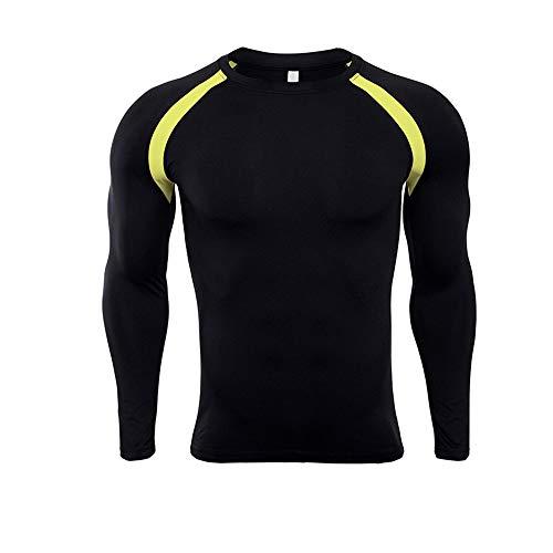 Camisa de compresión para hombre Camiseta deportiva de compresión de manga larga para hombre Camiseta de entrenamiento...