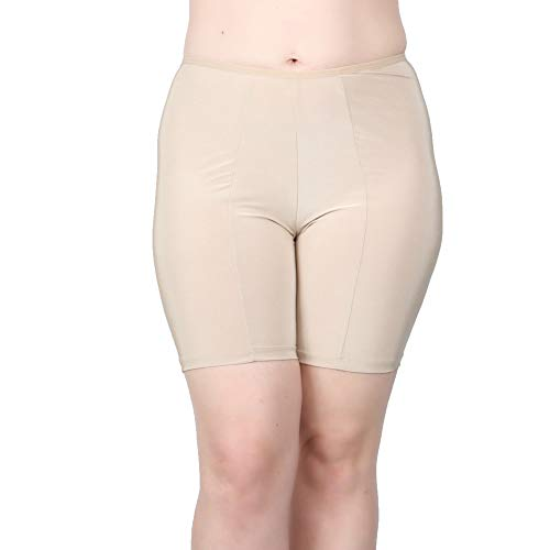 Undersummers Classic Shortlette: Rash Guard Slip Shorts (3X, Ecru) ... (Slips With Lace Meant To Be Seen)