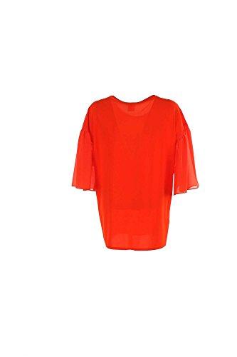 Blusa Donna Pinko 42 Arancione Fodero Primavera Estate 2016