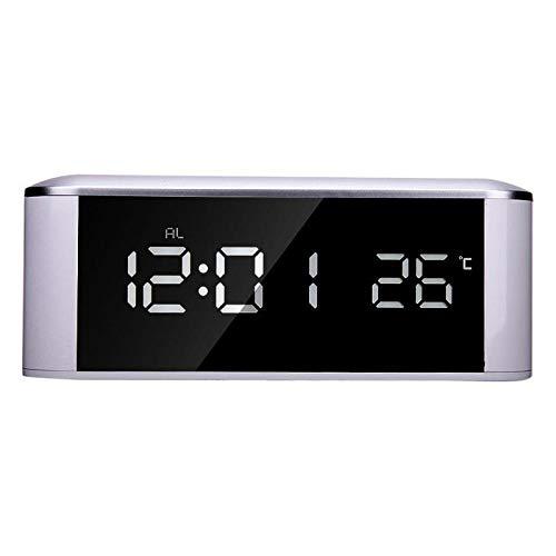 Alarm Clocks - Led Mirror Digital Alarm Clock Thermometer Di