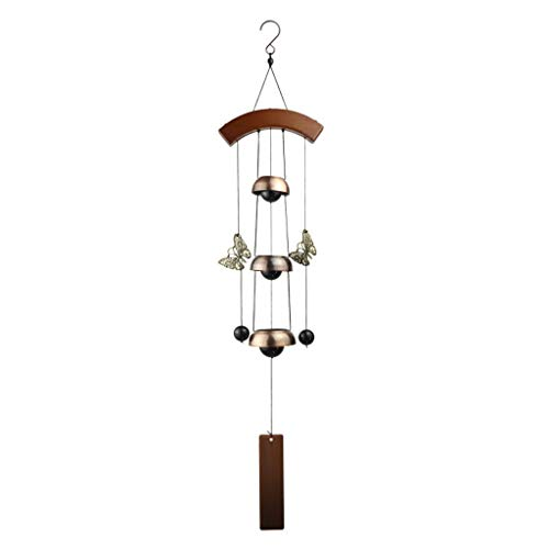 Grace Wrought Iron - Wind chimes Wind Chime Hanging Decoration Living Room Doorbell Wrought Iron Antique Copper Large Creative Bedroom Birthday Gift Garden Pendant (Color : A)